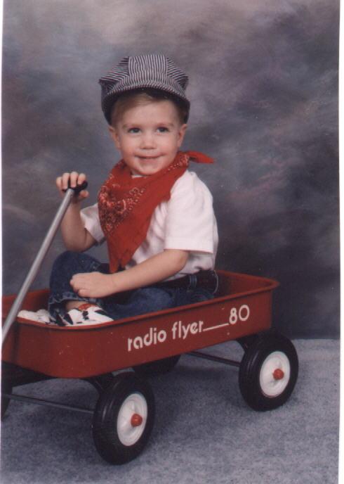 Brennan in a wagon 1997